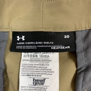 Under Shorts - Under Armour Flat Front Loose Fit Bermuda Shorts